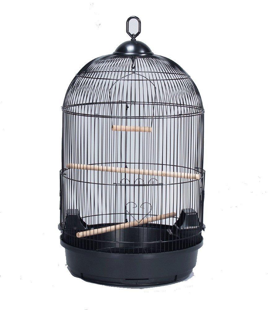 Mcage 16' Diameter X 28' H Round Dome Canary Cockatiel Parakeet Bird Cage Black