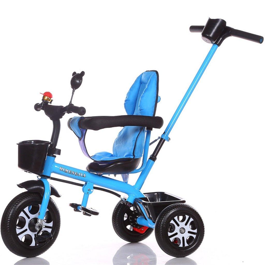 Multifuncional 2 en 1 Sports Edition Trike Triciclo infantil Kid Trolley con Parent Handle para niños de 1-3-6 años Boy and Girl Baby (Vigor Blue Bike) ( Color : Un estilo )
