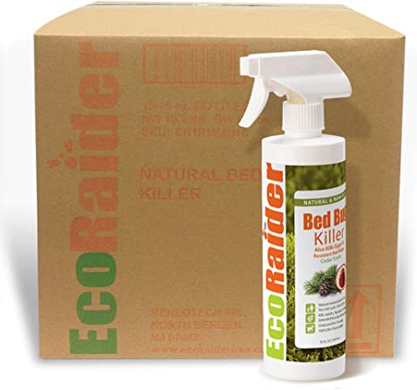 Amazon Com Ecoraider Bed Bug Spray 1 Case 16x16 Oz Fast 100 Efficacy Extended Protection Natural Non Toxic Kitchen Dining