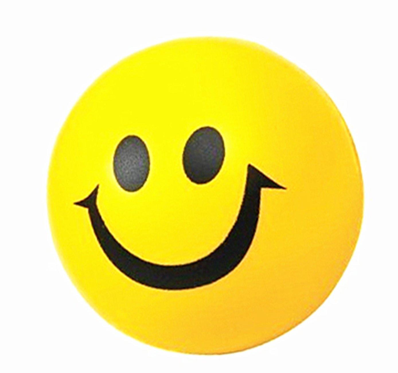 KingWinX Kid 's Smile Faceボール、パックの2個イエロー B00ZX8MDMC
