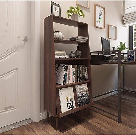 HM&DX Almacenaje Estantería Escalera,Madera 4 estantes Librerías Muebles VersÁtil Organizador Estante de exhibición para Salon Oficina Dormitorio-Nogal Negro L: Amazon.es: Hogar