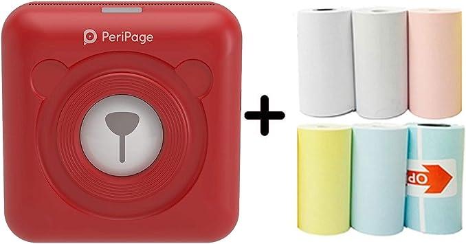 Port/átil T/érmica Bluetooth Impresora 58mm Mini Inal/ámbrico POS Imagen Tel/éfono Foto Impresora de Papel