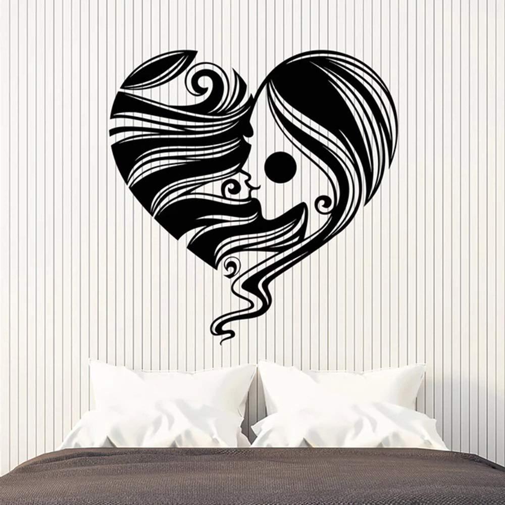 Etiqueta de la pared de moda en forma de corazón Símbolo Romántico ...