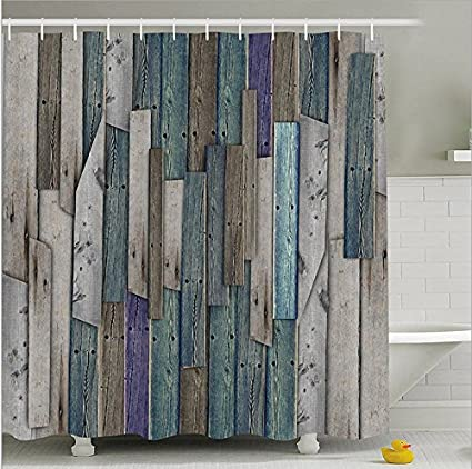 Fashion Dream Fabrics Rustic Shower CurtainsRustic Planks Barn House Wood And Nails Lodge Hardwood