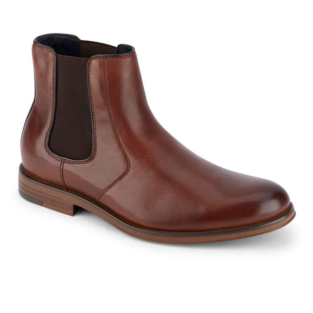Dockers Men's Ashford Chelsea Boot, Brown, 10 M US