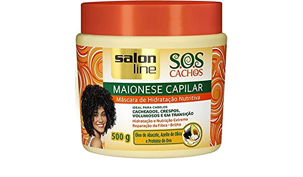 Amazon.com: Linha Tratamento (SOS Cachos) Salon Line - Maionese Capilar Mascara de Hidratacao Nutritiva 500 Gr - (SOS Curls Collection - Nourishing Hair ...