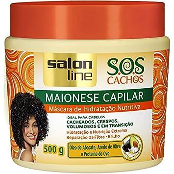Linha Tratamento (SOS Cachos) Salon Line - Maionese Capilar Mascara de Hidratacao Nutritiva 500
