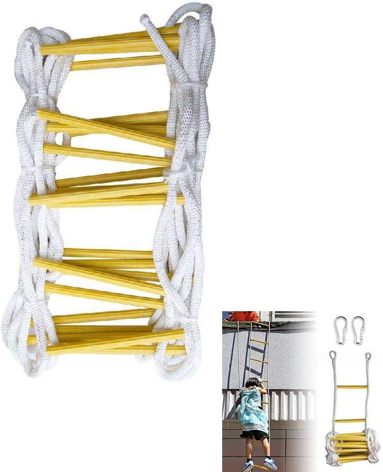 TQ Escalera de Emergencia contra Incendios, Material de Alta Resistencia 15 Metros 50 FT Escalera contra Incendios Escalera Plegable de Emergencia contra Incendios: Amazon.es: Deportes y aire libre