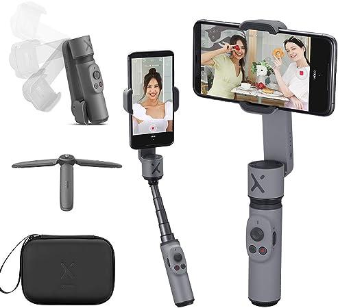 Todo para el streamer: ZHIYUN Smooth X Gimbal Estabilizador de Movil Compacto Plegable Selfile Gimbal Movil Compatible iPhone 11 Samsung Huawei Android,Extensible Palo Estabilizador Smartphone para Youtube Vlog Vídeo