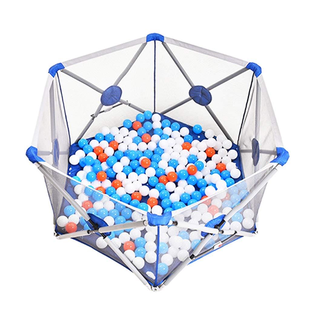 子供用プレイフェンスセーフティフェンス折り畳み式ゲームプレイペンポータブルボールプール屋内児童遊技場キッズのギフト (Color : Blue, Size : 77x77x77cm) 77x77x77cm Blue B07LGYSX2G