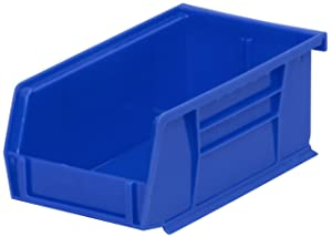 Akro-Mils 30220 Plastic Storage Stacking Akro Hanging Bin, 7-Inch by 4-Inch by 3-Inch, Blue, Case of 24