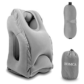 Amazon.com: Homca almohada de viaje, almohada inflable ...