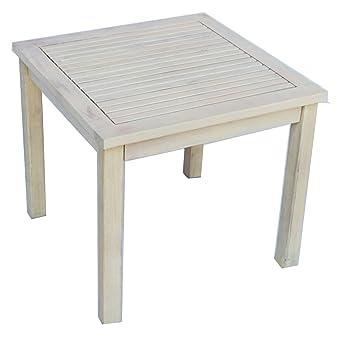 Zen Garden Hardwood Square Side Table, 19u0026quot; X 19u0026quot; X 17.5u0026quot;,