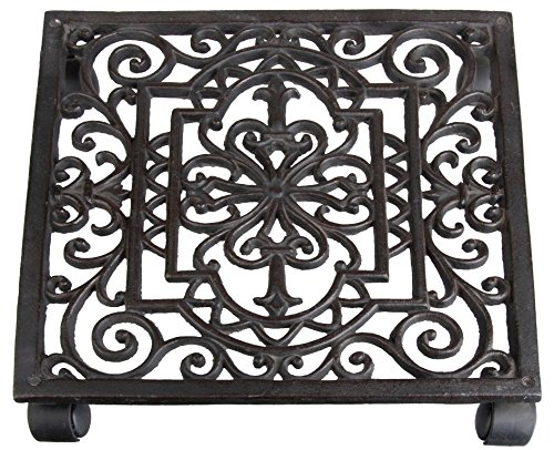 Cheap  Esschert Design Plant Trolley Cast Iron Square