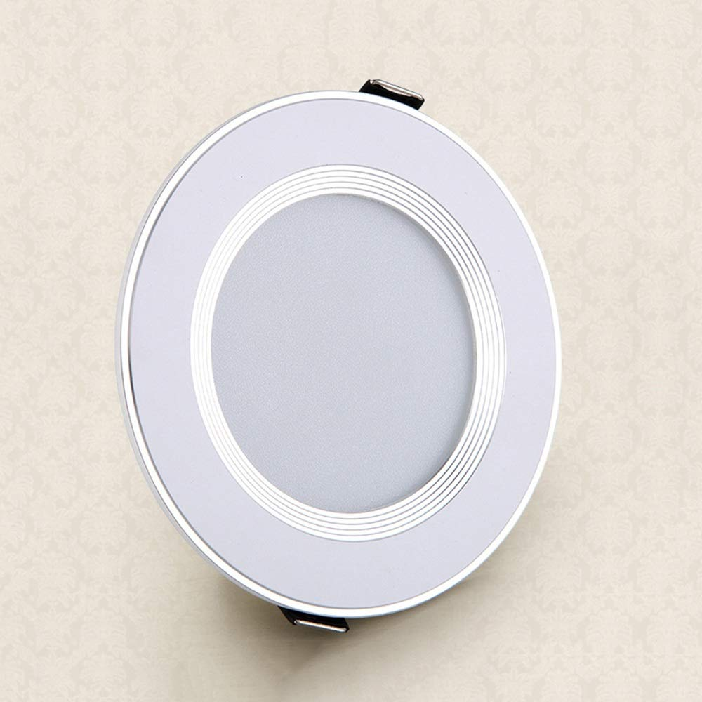 Lionze LED Recessed Lights Fixture Ceiling Aluminum Downlights Anti-Glare Commercial Panel Spotlights Ultra Slim Round Flat Lamp with Driver for Kitchen Living Room Bedroom 3W5W7W9W