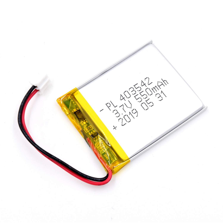Bateria Lipo 3.7V 550mAh 403542 Recargable JST Conector
