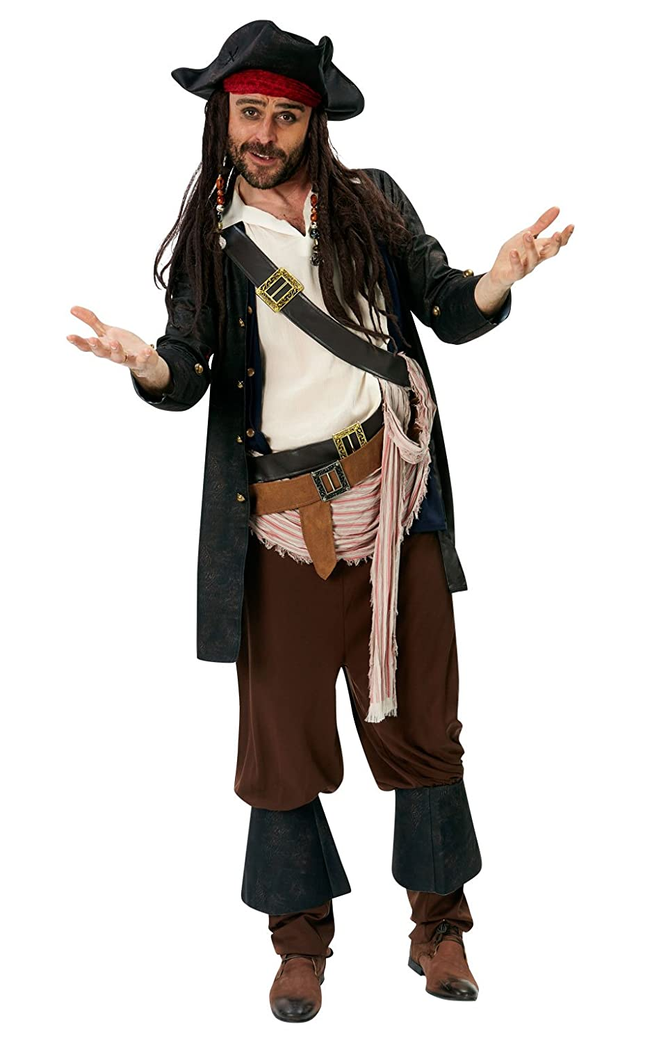 Rubie S Official Adult S Disney Jack Sparrow Costume Pirates