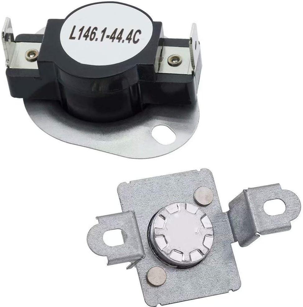 279973, 3391913, 8318314, AP3094323 - Dryer Thermal Cut-Off Fuse Kit for Whirlpool, Kenmore, Maytag, KitchenAid, Inglis