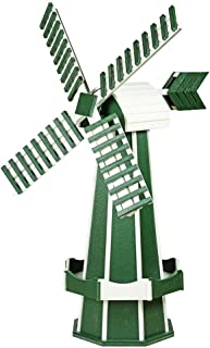 product image for DutchCrafters Decorative Poly Two-Tone Windmill (Large, Turf Green/White)