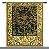 Fine Art Tapestries ''Tree of Life midnight Blue'' Wall Tapestry, Large