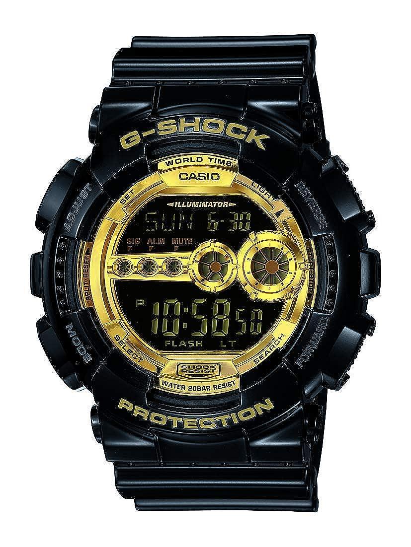 Casio G Shock Men s G-Shock Quartz Sport Watch with Resin Strap, Black, 29.4 Model GD-100GB-1CR
