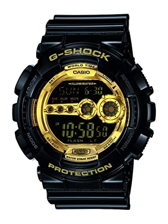 b91d5895d Amazon.com: Casio Men's XL Series G-Shock Quartz 200M WR Shock Resistant  Resin Color: Black & Gold (Model GD-100GB-1ACR): Casio: Watches
