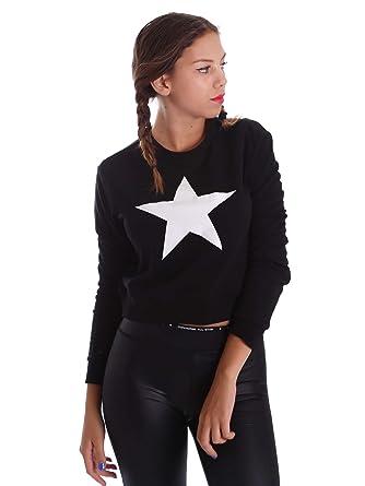 Converse - Sudadera con capucha - para mujer negro negro: Amazon.es: Ropa y accesorios