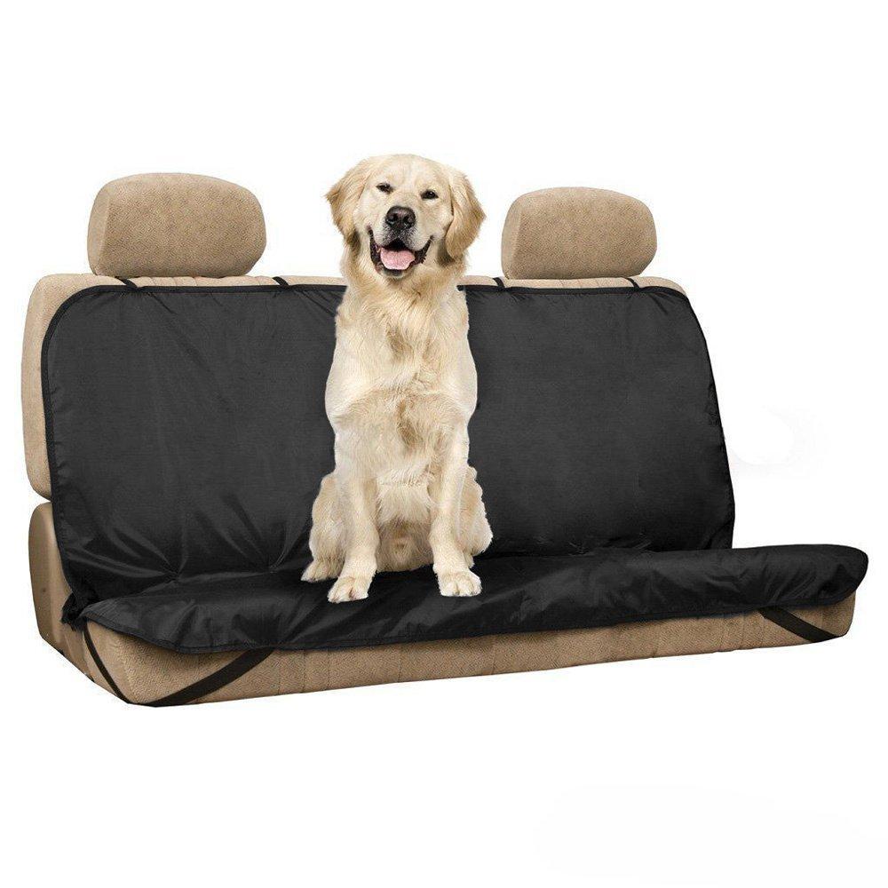Cubierta de asiento para mascotas - TOOGOO(R)Nuevo Mascotas / Gatos / Perros Cubierta de Asiento Mat Impermeable Asiento Trasero del Coche Cubierta Bench Protector con Cinturones, Negro TOOGOO (R) 067188