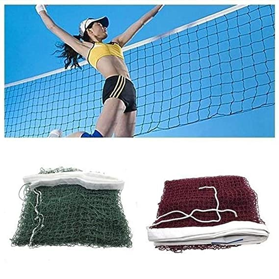 YJZQ Practice Volleyball Net Professional Training Beach Volleyball Net Indoor Outdoor Official Standard Size Net 9.5M x 1M