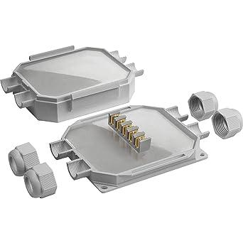 READY BOX 120 IP68 - Caja de conexión con 4 entradas de cable (M25 x 1,5): Amazon.es: Industria, empresas y ciencia