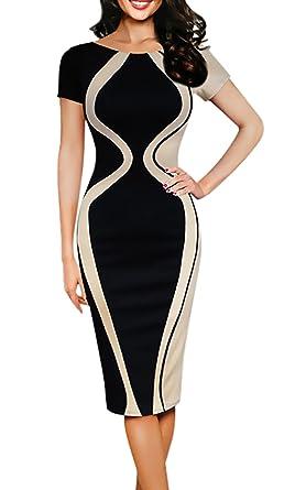 90eea02c89cad Battercake Vestiti Donna Taglie Forti Elegante Estivi Manica 3 4 Girocollo  Mid Lunghezza Casuale Donne Abito Moda Casuali Slinky A Quadri Business  Vestito ...