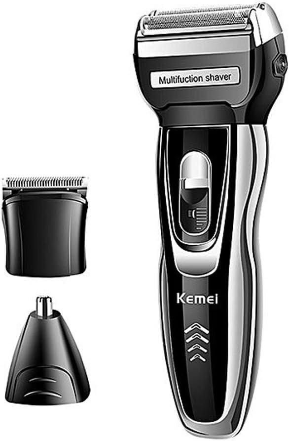 Afeitadora eléctrica 3 in1 Barba basette pelo Peli nariz Kemei km ...