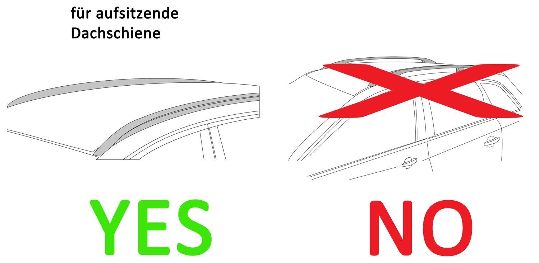 Alu-Relingtr/äger Dachgep/äcktr/äger f/ür aufliegende Reling im Set f/ür VW Passat B8 Variant ab 14 VDP Skibox wei/ß MAA 460W 460 Liter abschlie/ßbar