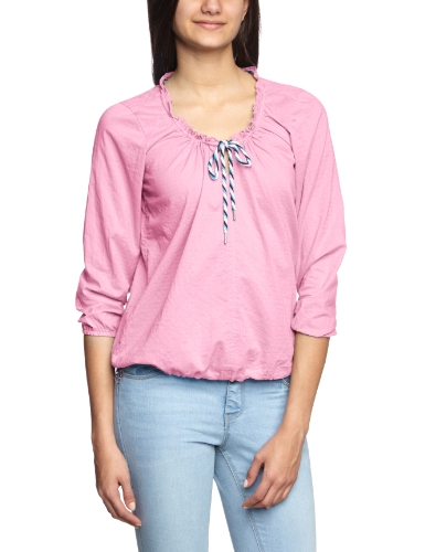 Campus - Blusa regular fit de manga larga para mujer Rosa (Candy Pink 608)