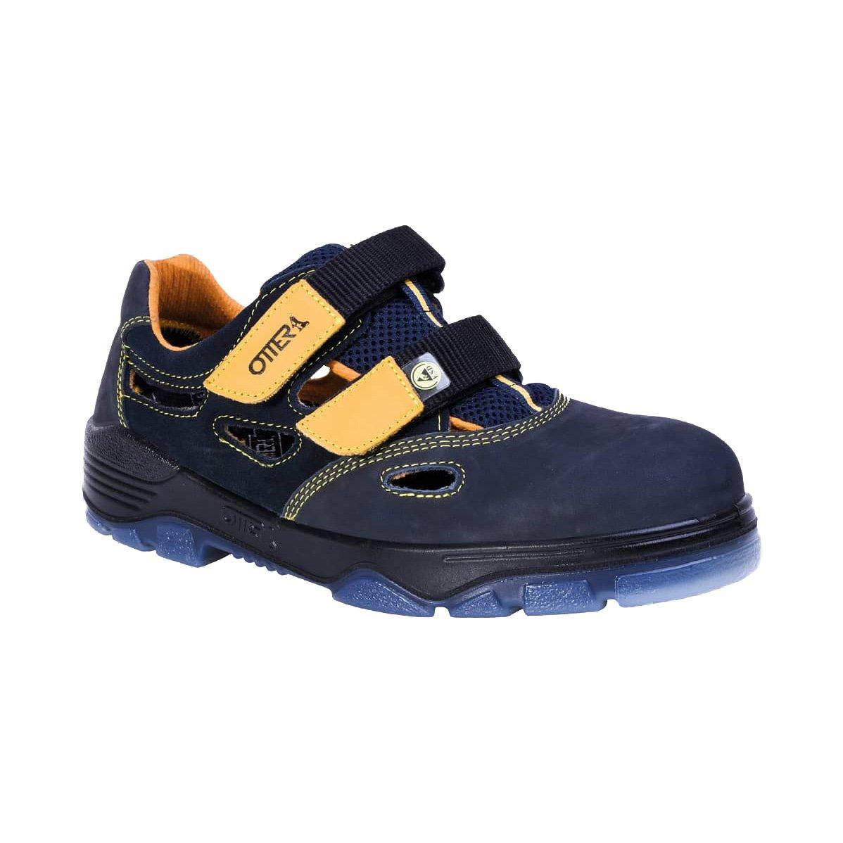 Otter SicherheitsSandalee 98405-559 schwarz/gelb ESD S1, Farbe: schwarz/gelb 98405-559 (41) - 5e87d9