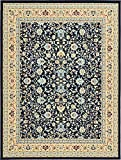 Unique Loom Kashan Collection Navy Blue 10 x 13