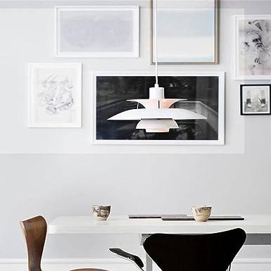 Fandian Modern Ceiling Light White Matt Pendant Chandelier,Reproduction Louis Poulsen PH5 PH50 LED Bulb Required