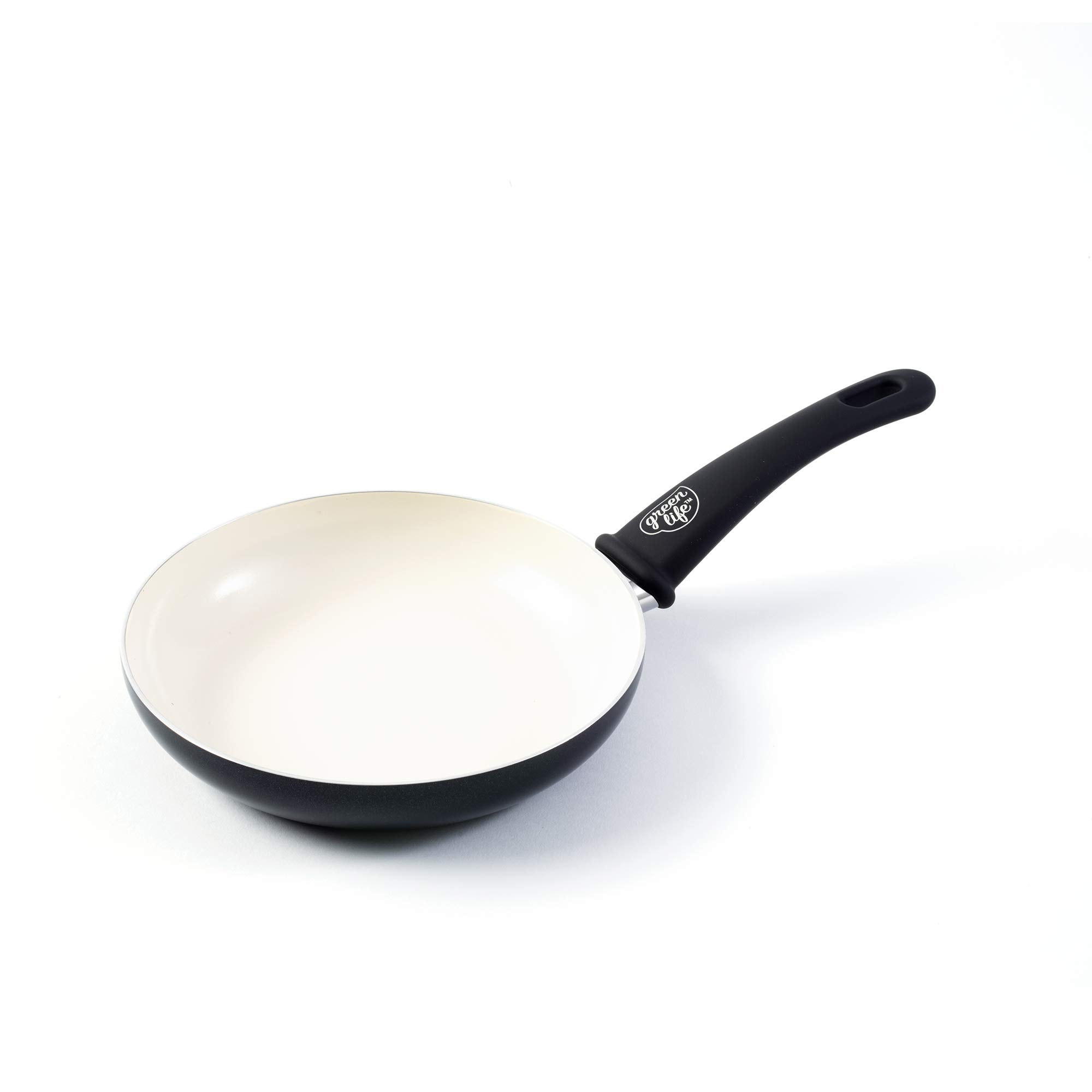 GreenLife Soft Grip 8'' Ceramic Non-Stick Open Frypan, Black - CW000894-002 by GreenLife