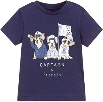 Mayoral Camiseta De Algodón para Niño, 9 Meses (74 Cm), Azul ...