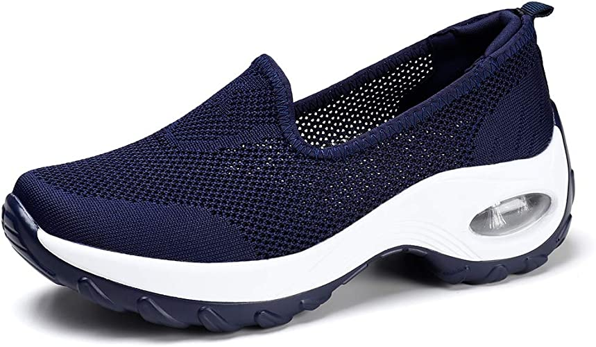 HKR Damen Sneaker Bequem Sportschuhe Laufschuhe Turnschuhe Leichte Schuhe