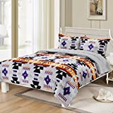 Southwest Design (Navajo Print) Queen Size 3pcs Set 16112 Grey