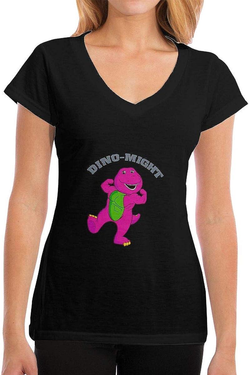 Camisetas para Mujer, Dino-Might Buff Barney The Dinosaur Short ...