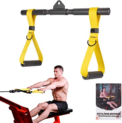 Arm Rope Tricep Multi Gym Cable Push Up Pull Down Press Bar Attachment US STOCK