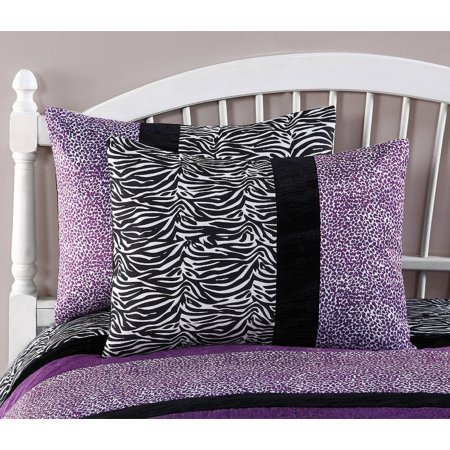 Your Zone Purple Pieced Animal Bedding Comforter Set (Twin)