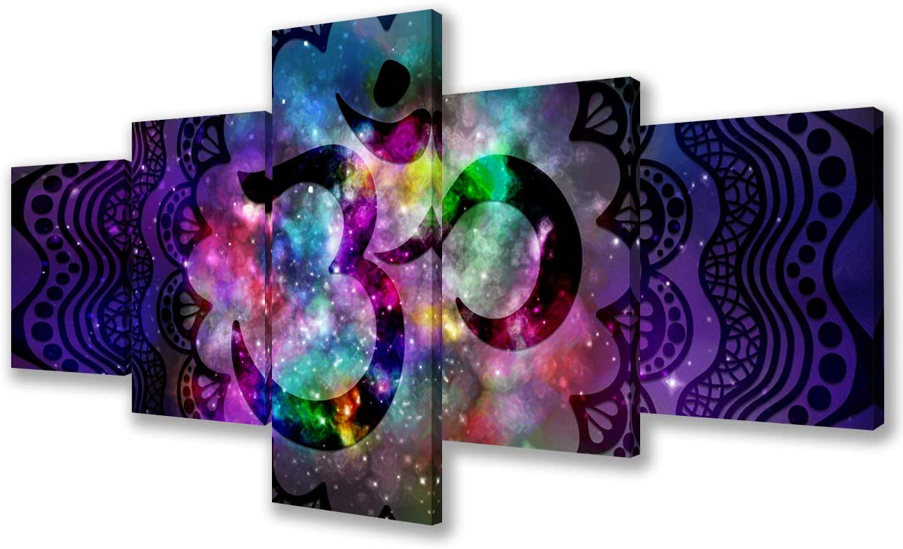 Multi Panels Canvas Wall Art Indian 5 Fort Worth Mall popular Painting Ancient Calligraphy