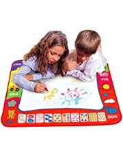 LING'S SHOP 80X60cm Water Drawing Kid Toy Painting Writing Mat Board Doodle Mat 2 Magic Pens