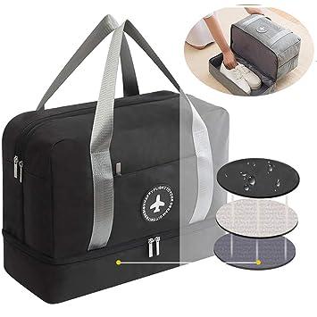 5fc052f46f68 Pawaca Waterproof Gym Bag, Duffel Waterproof Fitness Sports Bag,Training  Handbag Dry Wet Separated Gym Bag Dry Wet Depart Mesh Tote Bag For Men Women