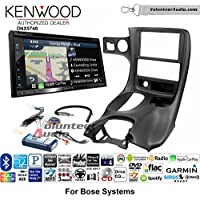 Volunteer Audio Kenwood DNX574S Double Din Radio Install Kit with GPS Navigation Apple CarPlay Android Auto Fits 1997-2004 Corvette (With Bose)