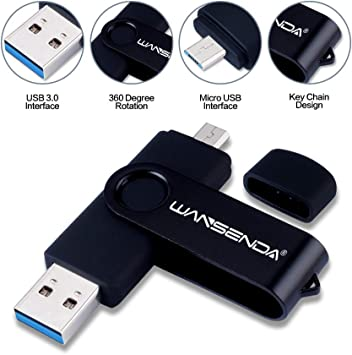 WANSENDA Memoria USB 3.0 Pendrive Flash Drive Dual Drive OTG Memoria Stick 256GB 128GB 64GB 32GB 16GB Pen Drive Almacenamiento Externo para Dispositivos Android/PC/Tablet: Amazon.es: Electrónica
