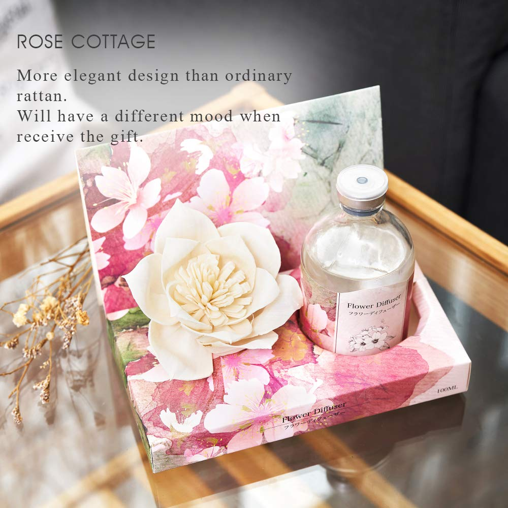Rose Cottage Reed Diffuser Set Lavender Scented Sticks Oil Diffuser Room Fragrance for Bedroom Living Room Office 100ML/3.4Oz. by Rose Cottage (Image #8)